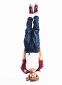 Man doing headstand