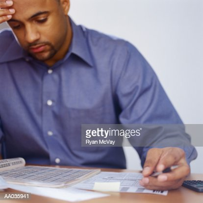 Man Doing Taxes