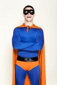 Man dressed as a superhero