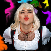 Man dressed as a woman
