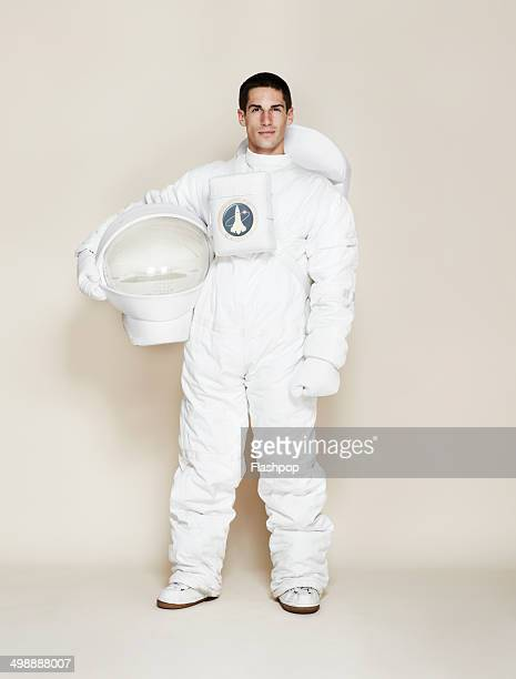 Man dressed as an astronaut