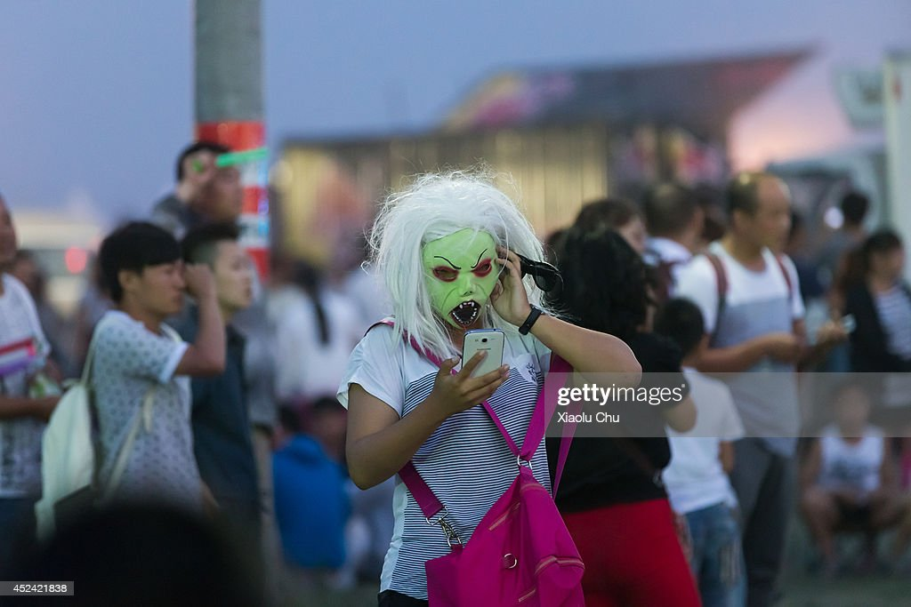 A man dresses as a ghost in 2014 Zhangbei Grassland Music Festival on July 19, 2014 in Beijing, China. Zhangbei Grassland Music Festival which located at Hebei Province is one the top music festival in China, the festival takes 'Go Wild' as its slogan and blends natural grassland ecology and a low-carbon lifestyle.