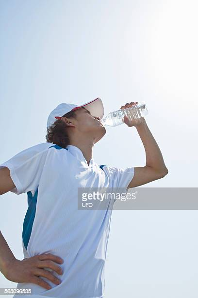 Man drink the water