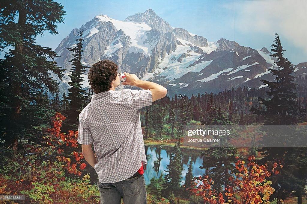 Man drinking beer : Stock Photo