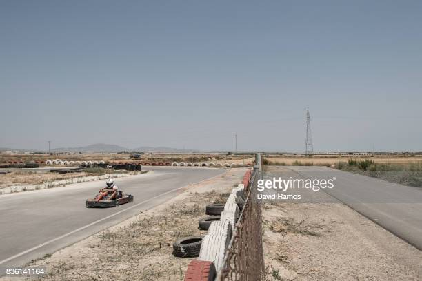 A man drivesa a kart next to arid plot lands on July 27 2017 in Los Martinez del Puerto Spain El Campo de Cartagena is located along the seaside of...
