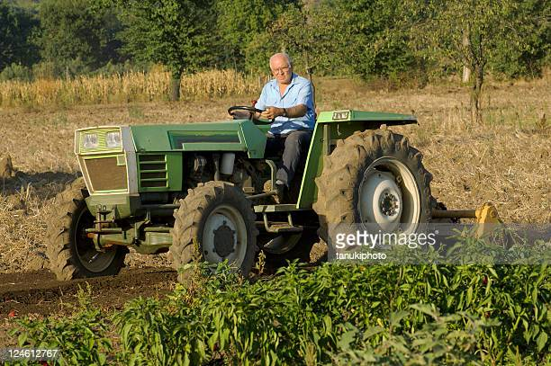man driving a tractor