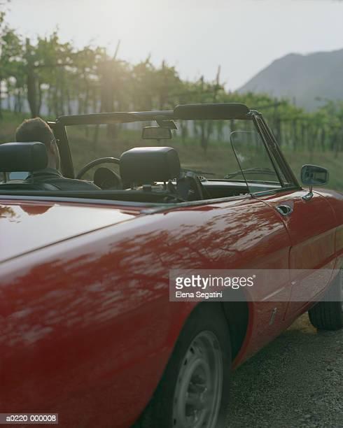 Man Driving Convertible