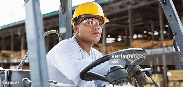 Man driving Gabelstapler