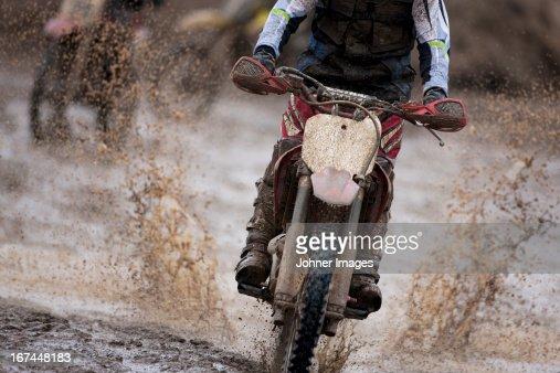 Man driving motorcycle : Stock Photo