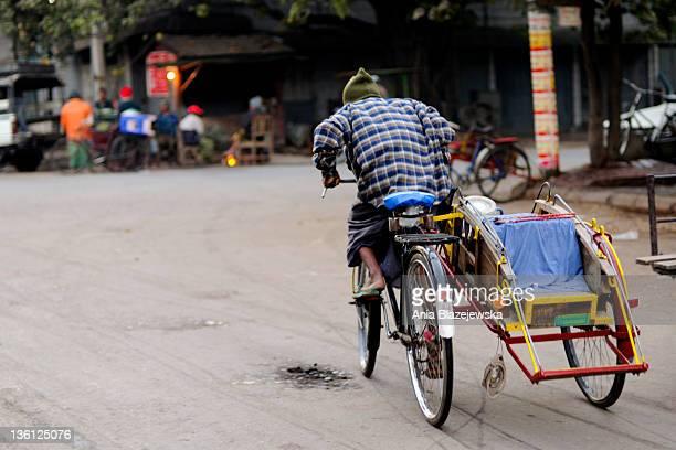 Man driving trishaw