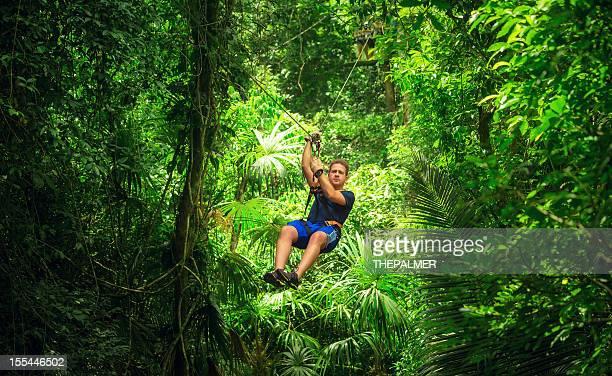 man during a Zip-line Tour Guatemala