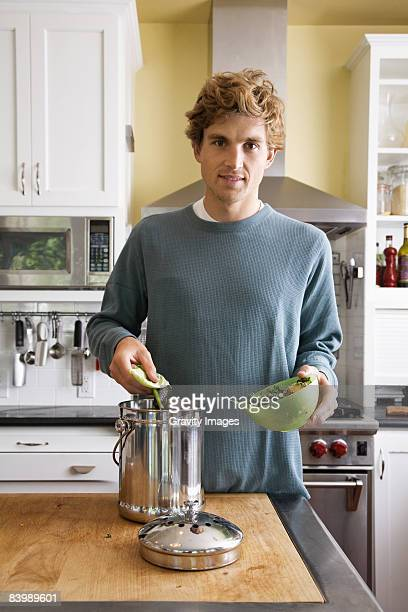 Man Eating a Fresh Salad