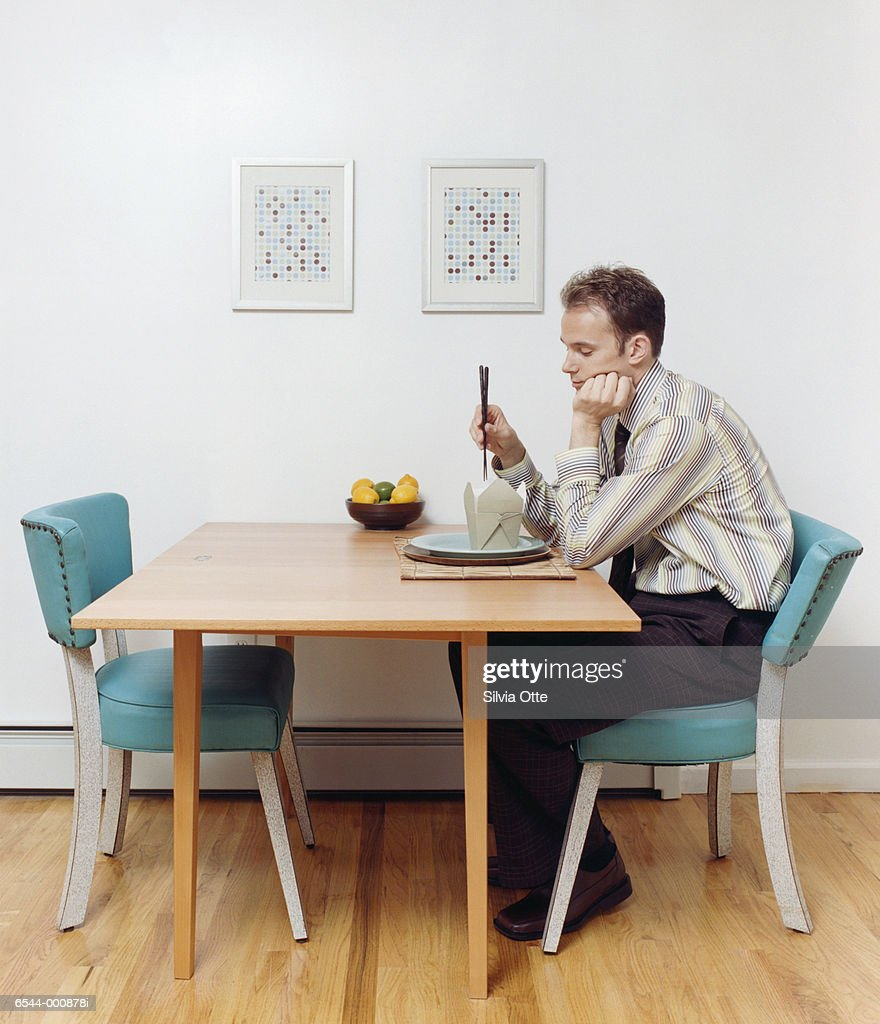 Eating Table Man Eating Alone At Table Stock Photo Getty Images