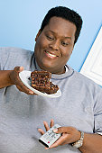 Man Eating Brownies