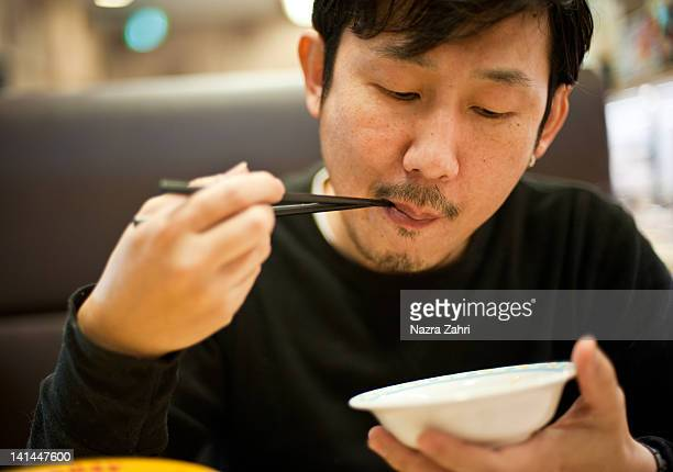 Man eating food