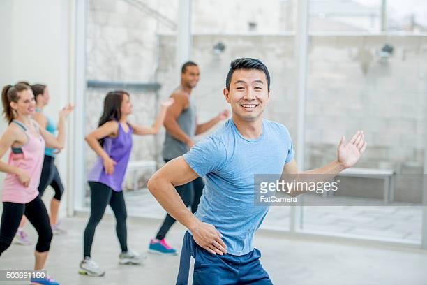 Man Enjoying a Dance Class