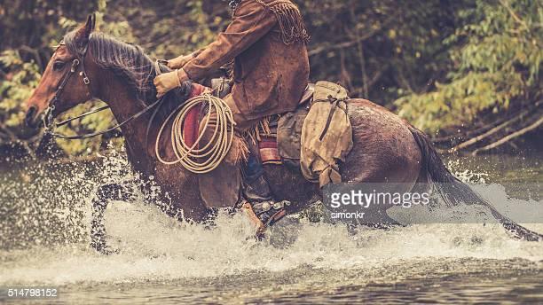 Man enjoying horse riding