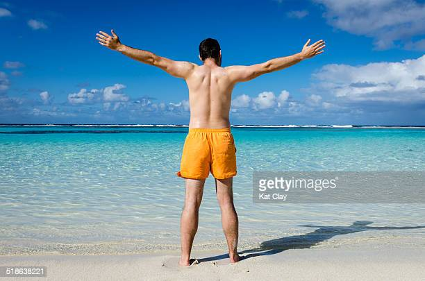 Man enjoying vacation