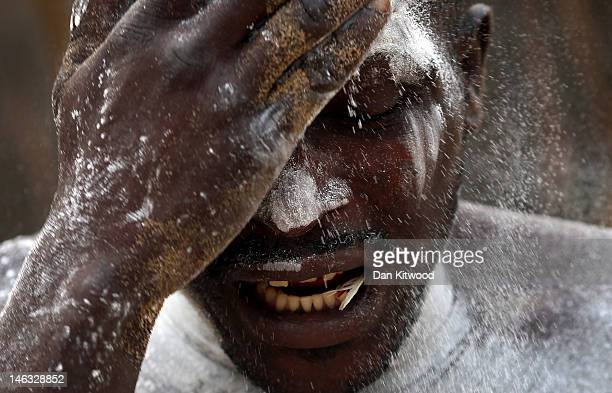A man enters a state of trance during a Voodoo ceremony on January 7 2012 in Ouidah Benin Ouidah is Benin's Voodoo heartland and thought to be the...