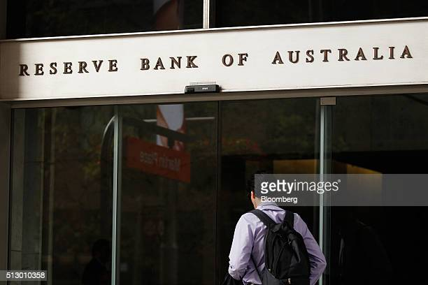 A man enters the Reserve Bank of Australia headquarters in Sydney Australia on Monday Feb 29 2016 Australian wage rises are the smallest on record...