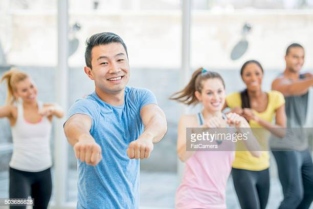 Man Exercising in Dance Class