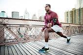 Man exercising in New York
