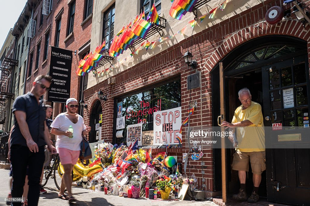 A man exits the Stonewall Inn on June 24, 2016 in New York City. President Barack Obama designated Stonewall Inn and approximately 7.7 acres surrounding it as the first national monument dedicated 'to tell the story of the struggle for LGBT rights.' The tavern is considered the birthplace of the modern gay rights movement, where patrons fought back against police persecution in 1969.