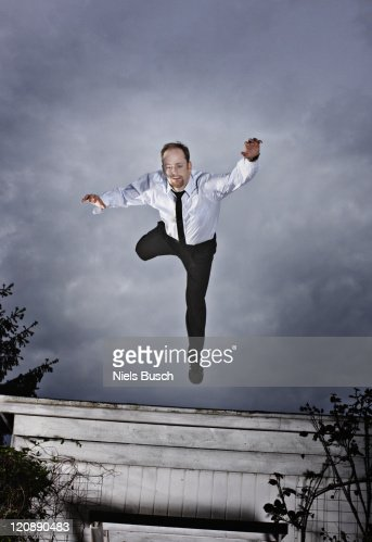 Man falling from the sky