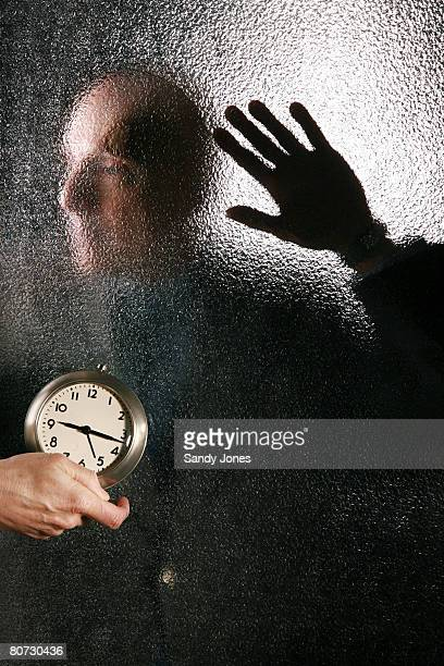 man feeling the pressure of time