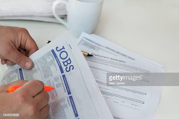 Man finding   jobs