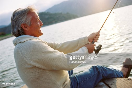 Man fishing : Stock Photo
