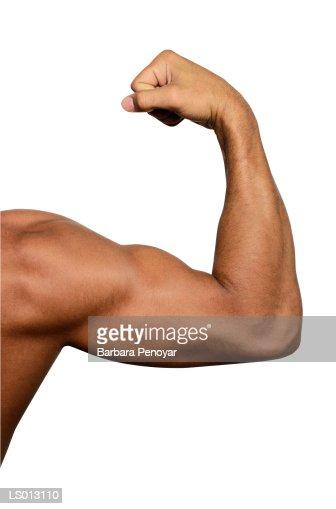 Man Flexing arm : Stock Photo