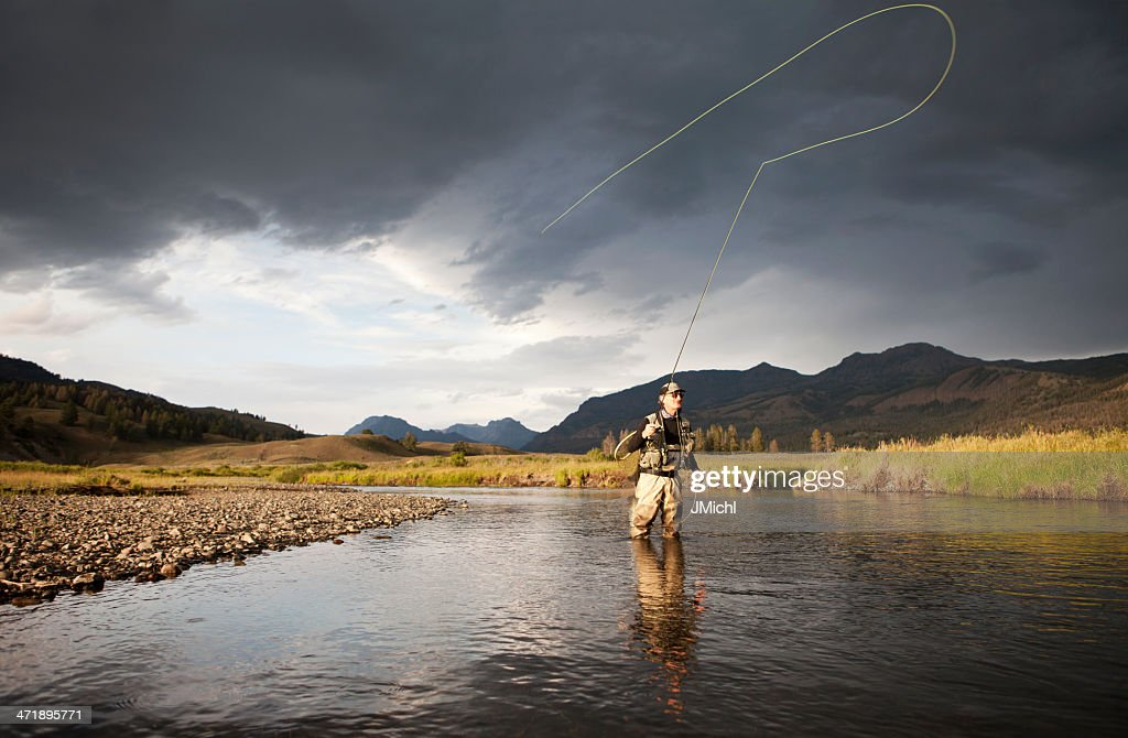 Fly fishing stock photo getty images for Fly fishing photography