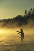 Man flyfishing