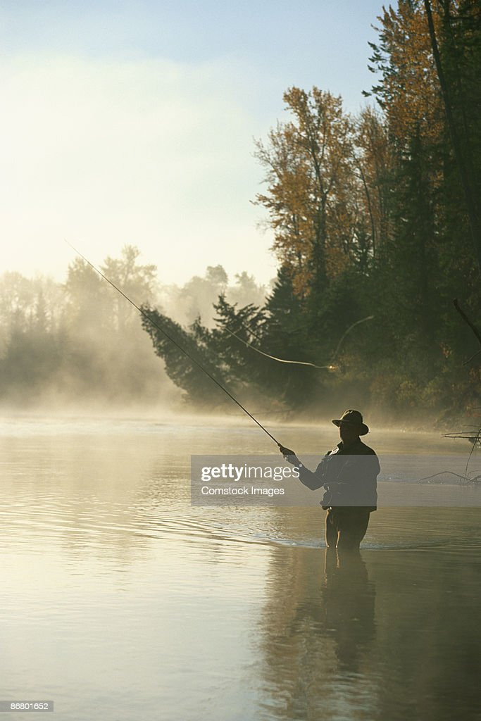 Man fly-fishing