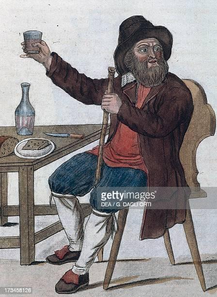 Man from the Black Forest engraving by Jacques Grasset de SaintSauveur Madrid Biblioteca Nacional