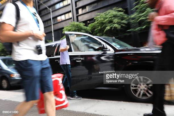 A man gets into an Uber SUV in Manhattan a day after it was announced that Uber cofounder Travis Kalanick will take a leave of absence as chief...