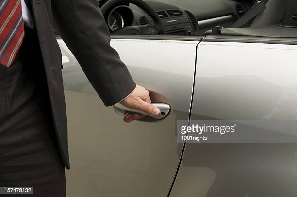 Man gets ready to get into the car