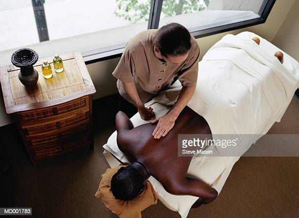 Man Getting a Back Massage