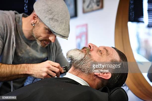 Mann immer eine Rasur an der barber shop