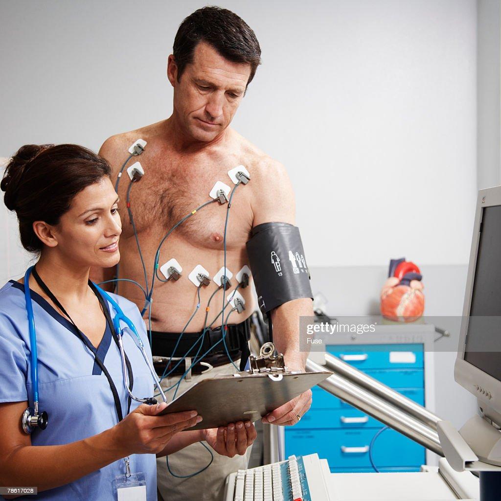 Man Getting Cardiovascular Test