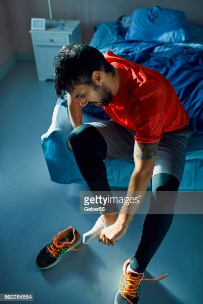 Man getting ready for a workout