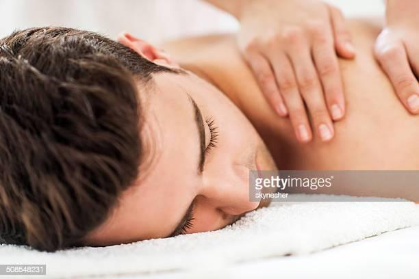 Mann immer spa-Behandlung.