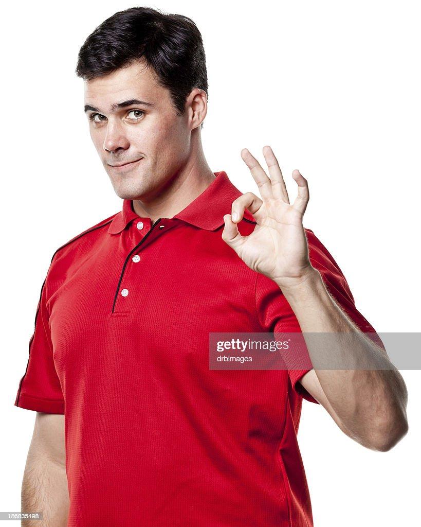 Man Gives Okay Hand Sign