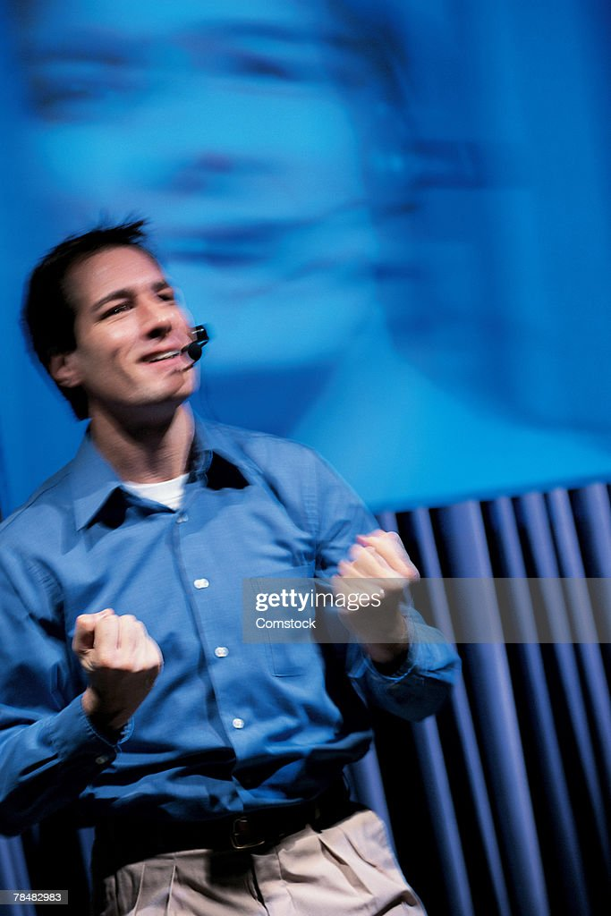 Man Giving Speech Stock Photo | Getty Images