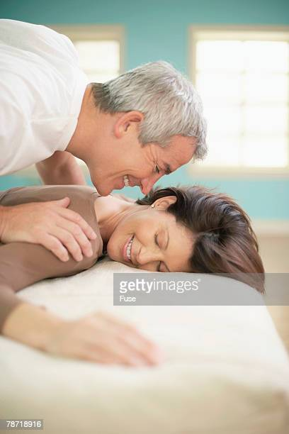 Man Giving Woman Back Rub