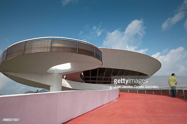 CONTENT] Man going up ramp in Museum of Modern Art designed by Oscar Niemeyer