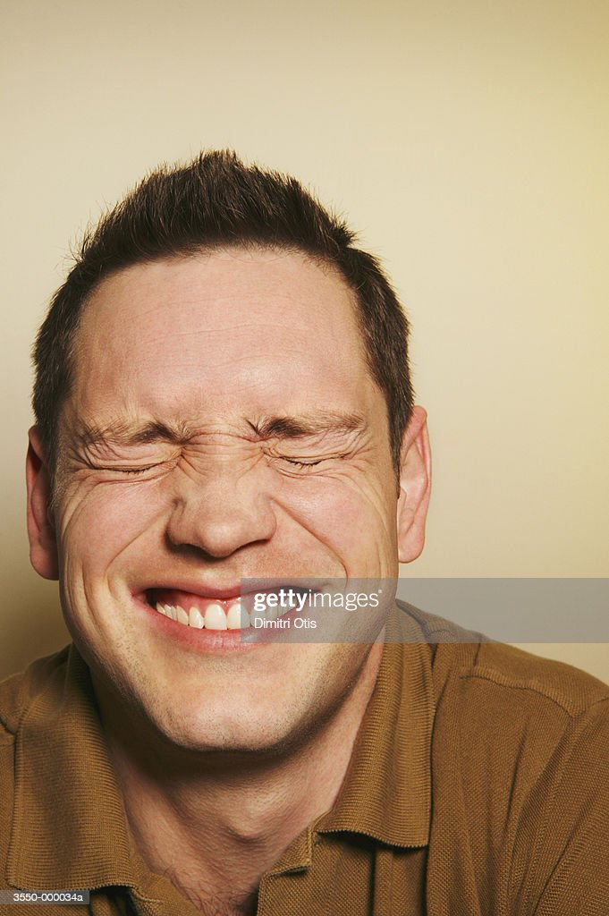 Man Grinning : Stock Photo