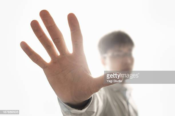 A man growing a hand