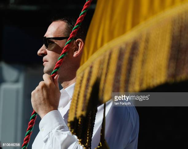 A man helps to carry a colliery banner during the 133rd Durham Miners Gala on July 8 2017 in Durham England Over two decades after the last pit...